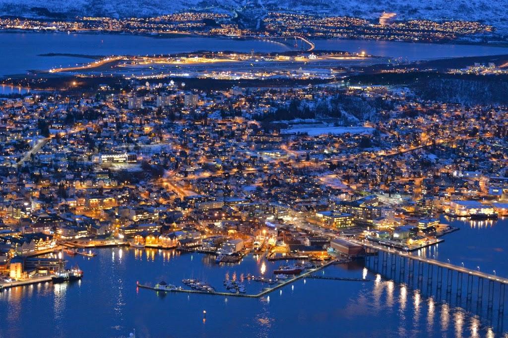 Tromso, Norway at night