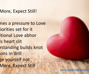 Love more Expect still