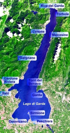 Lake Garda map