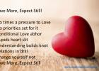 Love more Expect still